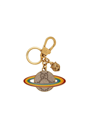 Gucci Planet GG Supreme keyring - GOLD