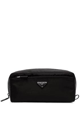 Prada logo wash bag - Black