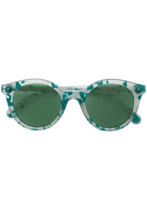 Christopher Kane Eyewear speckled round frame sunglasses - Green