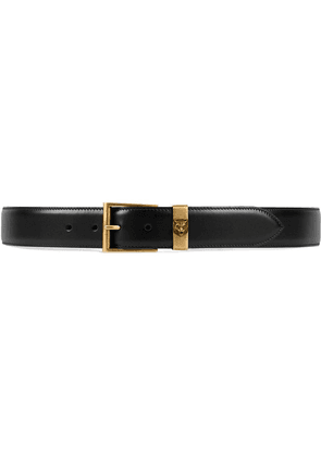 Gucci Leather belt with feline head - Black