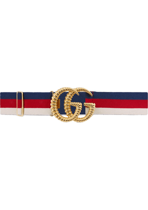 Gucci Web elastic belt with torchon Double G buckle - Red