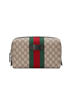 Gucci GG Supreme toiletry case - NEUTRALS