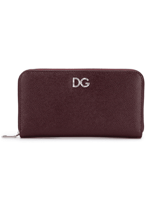 Dolce & Gabbana Continental crystal logo wallet - Red