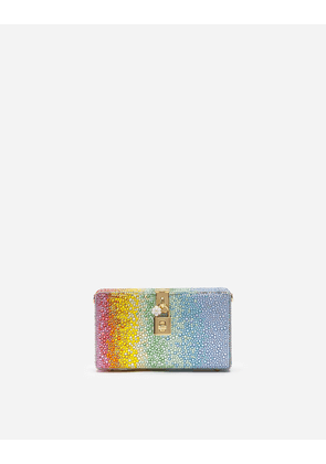 Dolce & Gabbana Mini Bags and Clutches - DOLCE BOX CLUTCH WITH HEAT-APPLIED RHINESTONES MULTI-COLORED