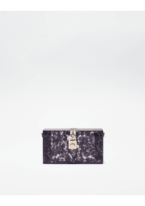 Dolce & Gabbana Mini Bags and Clutches - DOLCE BOX CLUTCH IN PLEXIGLASS AND LACE Purple