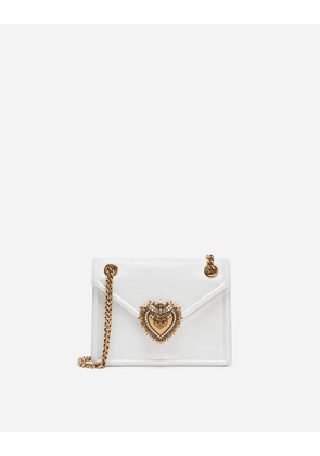 Dolce & Gabbana Mini Bags and Clutches - MEDIUM DEVOTION BAG IN SMOOTH CALFSKIN LEATHER OPTICAL WHITE