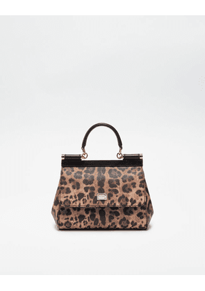Dolce & Gabbana Mini Bags and Clutches - SMALL SICILY BAG IN LEOPARD TEXTURED LEATHER LEOPARD