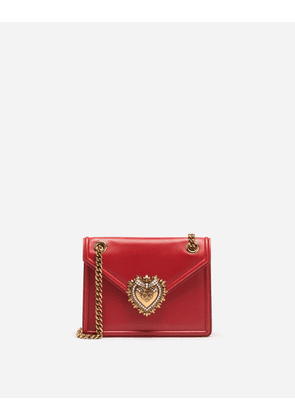 Dolce & Gabbana Mini Bags and Clutches - MEDIUM DEVOTION BAG IN SMOOTH CALFSKIN LEATHER POPPY RED
