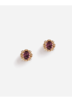 Dolce & Gabbana Bijoux - CLIP-ON EARRINGS WITH RHINESTONES GOLD