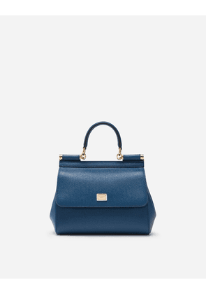 Dolce & Gabbana Mini Bags and Clutches - SMALL DAUPHINE LEATHER SICILY BAG BLUE