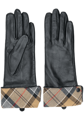 Barbour checked lining gloves - Black