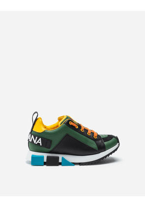 Dolce & Gabbana Shoes - MULTI-COLORED CALFSKIN SUPER KING SNEAKERS GREEN