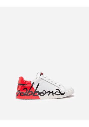 Dolce & Gabbana Shoes - LEATHER SNEAKERS WHITE