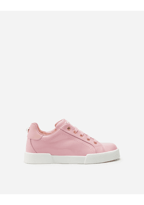 Dolce & Gabbana Shoes (24-38) - PATENT LEATHER PORTOFINO LIGHT SNEAKERS PINK