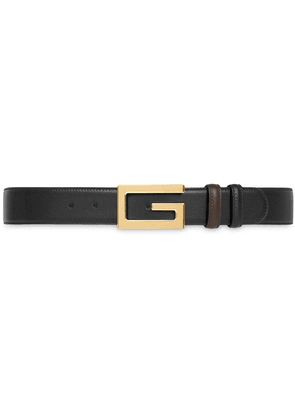 Gucci reversible belt with G buckle - Black