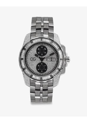 Dolce & Gabbana Watches - GOLD WATCH WITH DIAMOND PAVÉ WHITE GOLD