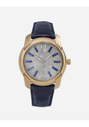 Dolce & Gabbana Watches - GOLD WATCH WITH DIAMOND PAVÉ BLUE/PINK GOLD