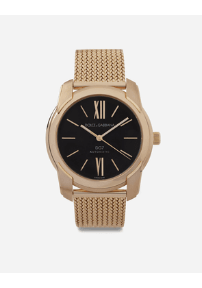 Dolce & Gabbana Watches - DG7 WATCH IN RED GOLD WITH MILANO MESH BRACALET GOLD