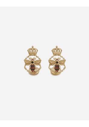 Dolce & Gabbana Jewelry - KING CUFFLINKS IN YELLOW GOLD WITH ENAMEL AND BLACK DIAMONDS GOLD