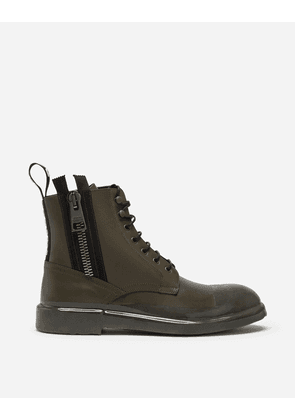 Dolce & Gabbana Boots - ANKLE BOOT IN SUMMER CALFSKIN WITH IMMERSION FINISH GREEN