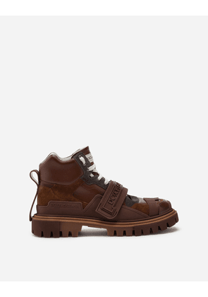 Dolce & Gabbana Boots - TREKKING SHOES WITH LOGO BROWN