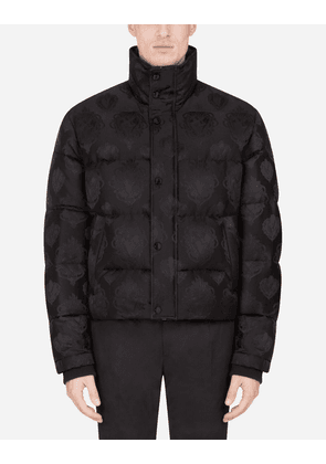 Dolce & Gabbana Jackets and Bombers - QUILTED JACQUARD JACKET BLACK