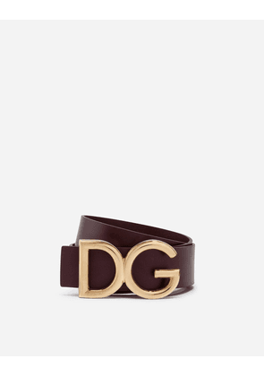 Dolce & Gabbana Belts - DAUPHINE LEATHER BELT BORDEAUX