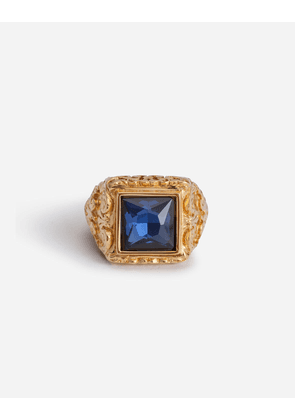 Dolce & Gabbana Bijoux - RING WITH STONE DETAIL GOLD
