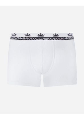 Dolce & Gabbana Underwear - TWO-WAY-STRETCH COTTON JERSEY BOXERS WHITE