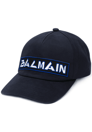 Balmain embroidered logo baseball cap - Blue