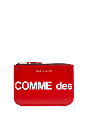 Comme Des Garçons Wallet small logo printed pouch - Red