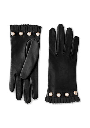 Gucci Studded leather gloves - Black