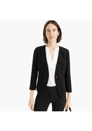 Petite collarless fitted blazer in 365 crepe