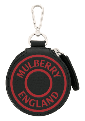 Mulberry logo pouch keyring - Black