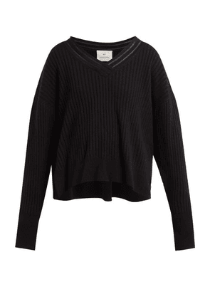 By. Bonnie Young - V-neck Cashmere-blend Sweater - Womens - Black