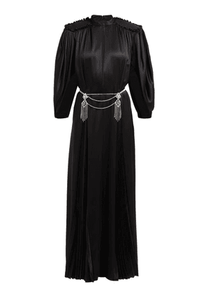 Gucci - Embellished Back Silk Satin Gown - Womens - Black