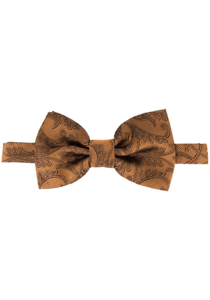Dolce & Gabbana jacquard bow tie - Brown
