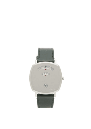Gucci - Grip Stainless-steel And Leather Watch - Mens - Silver
