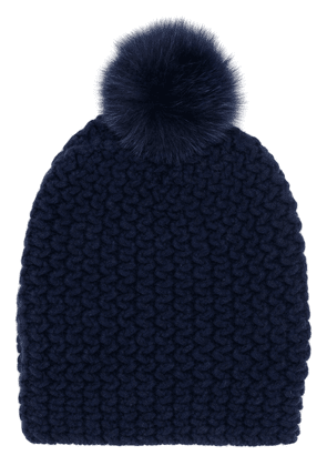 Danielapi pom-pom knitted hat - Blue
