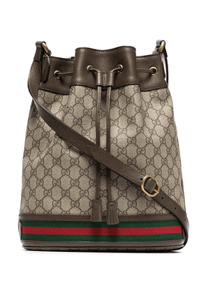 Gucci GG logo bucket bag - Brown