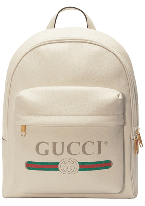 Gucci Gucci Print leather backpack - White