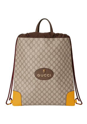 Gucci GG Supreme drawstring backpack - Neutrals