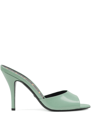 Gucci Leather heeled slides - Green