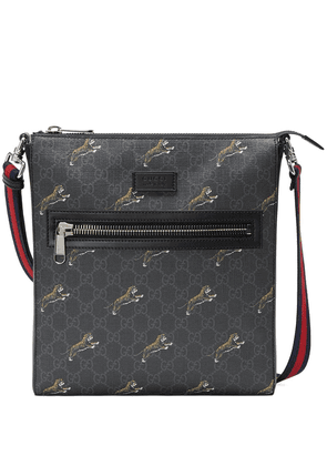 Gucci GG Supreme messenger with tigers - Black