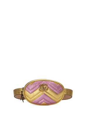 Gucci GG Marmont matelassé leather belt bag - Gold