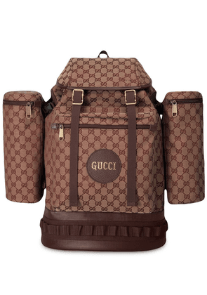 Gucci Large GG canvas backpack - Brown