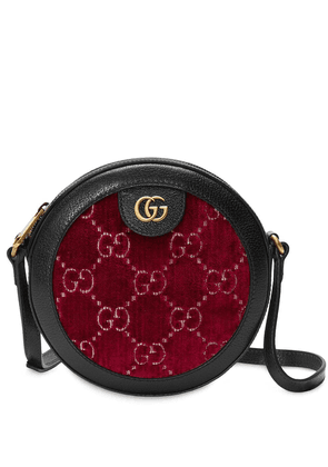 Gucci GG Supreme round shoulder bag - Red