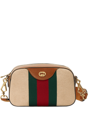 Gucci Vintage canvas shoulder bag - Brown