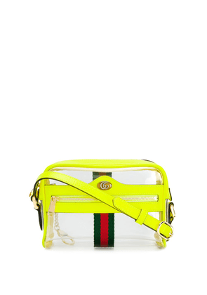Gucci transparent panel crossbody bag - Green