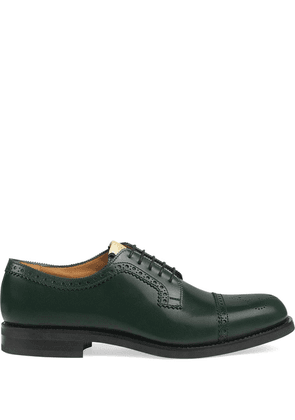 Gucci perforated leather brogues - Green